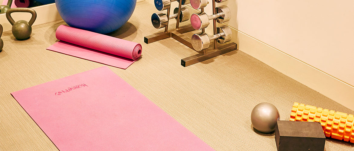 Atacama from the Unnatural Flooring range in a home gym