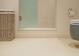 Sinai fitted flooring in a shower room (Unnatural Flooring range - UF1016)