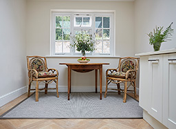 Kitchen rug in Boston with Bark binding (New England Range - NE6008)