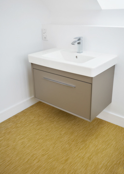 Mustard flooring in bathroom (Precision range - PR7019)