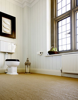 Savannah fitted flooring in the bathroom (Unnatural Flooring range - UF1003)
