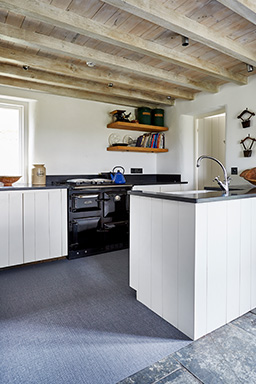 Juniper fitted flooring in kitchen (Unnatural Flooring range - UF1026)