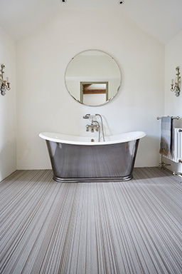 Oyster fitted flooring in a bathroom (Unnatural Flooring - UF2003)