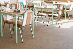 Restaurant flooring in Charcoal (Unnatural Flooring range - UF1006)