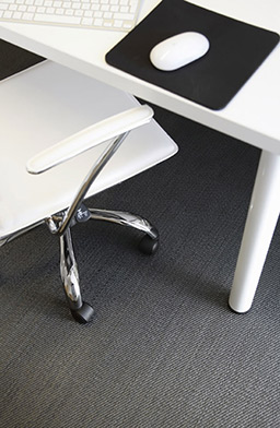 Office flooring in Jet (Unnatural Flooring range - UF1011)